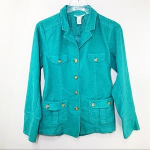 Sundance Corduroy Green Blazer Jacket Size XS